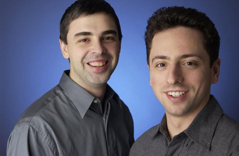 Les fondateurs de Google: Sergey Brin et Larry Page
